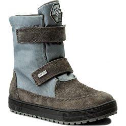 Śniegowce NATURINO - Gange 0013001220.01.9102 Antracite. Szare buty zimowe chłopięce Naturino, z materiału. W wyprzedaży za 339,00 zł.