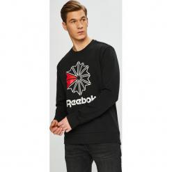 Reebok Classic - Bluza. Czarne bluzy męskie rozpinane marki Reebok Classic, l, z nadrukiem, z bawełny, bez kaptura. Za 229,90 zł.