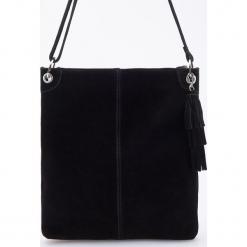 Skórzana torba - Czarny. Czarne torebki klasyczne damskie Reserved. Za 249,99 zł.