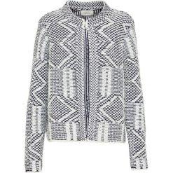 Odzież damska: Sweter w kolorze kremowo-granatowym