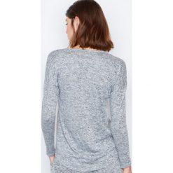 Etam - Bluzka Piżamowa. Szare bluzki longsleeves marki Etam, l, z nadrukiem, z dzianiny, z okrągłym kołnierzem. W wyprzedaży za 79,90 zł.