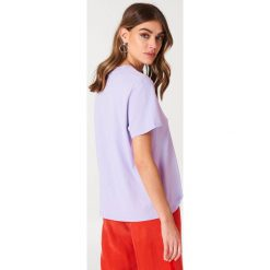 NA-KD Basic T-shirt oversize - Purple. Różowe t-shirty damskie marki NA-KD Basic, z bawełny. W wyprzedaży za 37,07 zł.