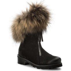 Botki R.POLAŃSKI - 891/K Czarny-Nubuk. Czarne buty zimowe damskie marki R.Polański, ze skóry, na obcasie. W wyprzedaży za 389,00 zł.