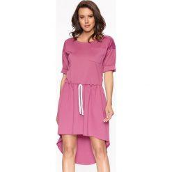Sukienki asymetryczne: Sukienka w kolorze różowym