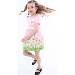 Sukienka w kwiatki jasnoróżowa NDZ8162. Czarne sukienki dziewczęce w kwiaty marki Fasardi, m, z dresówki. Za 59,00 zł.