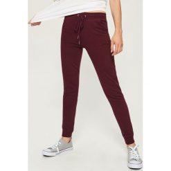 Spodnie dresowe damskie: Spodnie dresowe - Bordowy