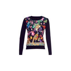Swetry Desigual  ASTRIX. Czarne swetry klasyczne damskie marki Desigual, l. Za 349,00 zł.