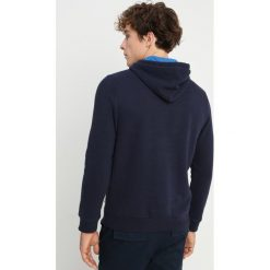 Napapijri BURGEE Bluza z kapturem blu marine. Szare bluzy męskie rozpinane marki Napapijri, l, z materiału, z kapturem. Za 429,00 zł.