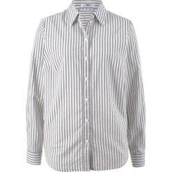 Bluzka z długim rękawem bonprix biel wełny - szary w paski. Białe bluzki longsleeves marki bonprix, w paski, z wełny. Za 32,99 zł.