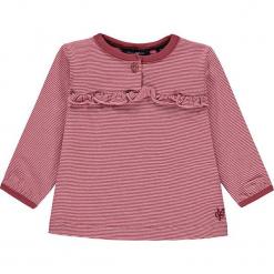 Koszulka w kolorze jasnoróżowym. Białe bluzki dziewczęce w paski marki Marc O'Polo Junior, z okrągłym kołnierzem, z długim rękawem. W wyprzedaży za 49,95 zł.