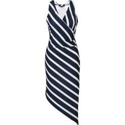 Sukienki: Sukienka asymetryczna bonprix ciemnoniebiesko-biały w paski