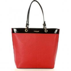 MONNARI Klasyczna torebka shopper bag czarny z czerwonym. Czarne shopper bag damskie Monnari, ze skóry. Za 159,00 zł.