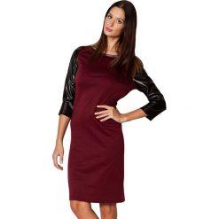 Odzież damska: Sukienka Figl w kolorze bordowo-czarnym