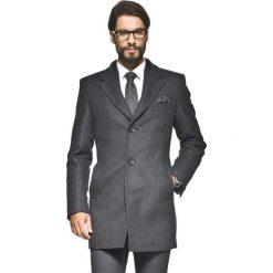 Płaszcz werdun szary. Szare płaszcze na zamek męskie marki Recman, na zimę, m, prążkowane, eleganckie. Za 299,99 zł.