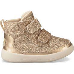 Złote wysokie buty sportowe Pritchard Sparkles. Żółte buty sportowe dziewczęce marki Ugg, z kauczuku, na obcasie. Za 214,58 zł.
