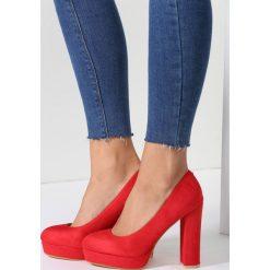 Buty ślubne damskie: Czerwone Czółenka Soft Cream