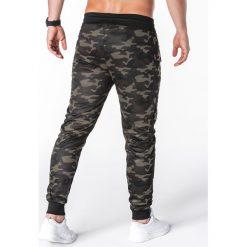 Spodnie dresowe męskie: SPODNIE MĘSKIE DRESOWE P697 - CIEMNE MORO