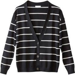 Kardigany damskie: Sweter rozpinany w paski, zapięcie na zatrzaski