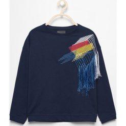 Bluzy dziewczęce: Bluza z haftem - Granatowy