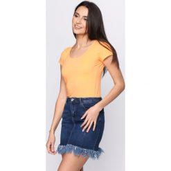 T-shirty damskie: Pomarańczowy T-shirt Sweet Teraphy