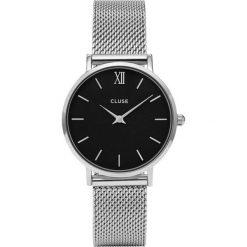 Zegarki damskie: Zegarek damski Mesh Silver Black Cluse Minuit CL30015