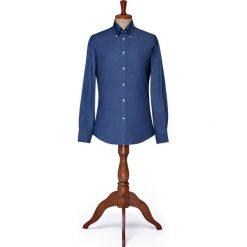 Koszula Granatowa Boulevard. Szare koszule męskie na spinki LANCERTO, l, z bawełny, button down. Za 299,00 zł.