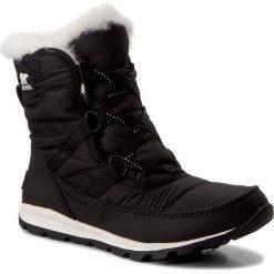 Kozaki dziewczęce: Śniegowce SOREL – Youth Whitney Short Lace NY1897 Black/Sea Salt 010