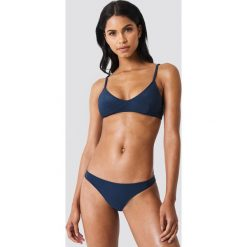 Stroje kąpielowe damskie: NA-KD Swimwear Dół bikini Structured – Navy