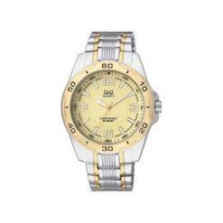 Zegarek Q&Q Męski F496-403 srebrno-złoty. Szare zegarki męskie Q&Q, złote. Za 129,26 zł.