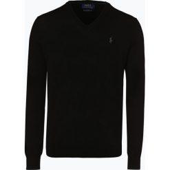 Polo Ralph Lauren - Męski sweter z wełny merino – Slim Fit, czarny. Czarne swetry klasyczne męskie Polo Ralph Lauren, m, z wełny, polo. Za 659,95 zł.