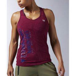Reebok Koszulka damska treningowa CrossFit Strength W bordowa r. L (AX9703). Czerwone topy sportowe damskie marki Reebok, l. Za 129,69 zł.