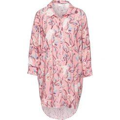 Bluzka oversize z wycięciami bonprix dymny różowy w kwiaty. Czerwone bluzki asymetryczne bonprix, w kwiaty. Za 59,99 zł.