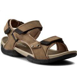Sandały męskie skórzane: Sandały GINO ROSSI – MN2443-TWO-BN00-3100-T Brązowy 80