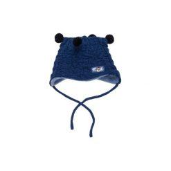 Czapka niemowlęca gładka, z aplikacją. Szare czapeczki niemowlęce marki TXM. Za 4,99 zł.