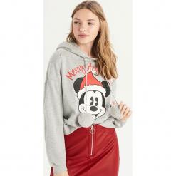 Świąteczna bluza Mickey Mouse - Jasny szar. Czarne bluzy damskie marki House, l, z motywem z bajki. Za 69,99 zł.