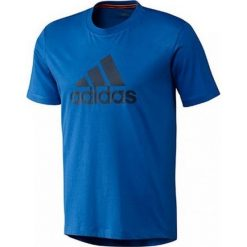 Adidas Tshirt Logo G80950. Niebieskie t-shirty męskie marki Adidas, m, z bawełny. W wyprzedaży za 69,99 zł.