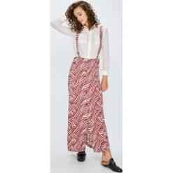 Answear - Spódnica. Szare długie spódnice ANSWEAR, l, z tkaniny, z podwyższonym stanem, proste. W wyprzedaży za 79,90 zł.