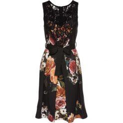 Sukienki: Sukienka z koronkową wstawką bonprix czarno-ciemnożółty
