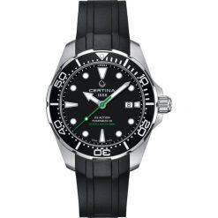 PROMOCJA ZEGAREK CERTINA DS Action C032.407.17.051.00. Czarne zegarki męskie CERTINA, ze stali. W wyprzedaży za 2851,20 zł.