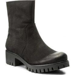 Botki KARINO - 2252/003-F Czarny. Fioletowe buty zimowe damskie marki Karino, ze skóry. W wyprzedaży za 239,00 zł.