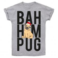 Christmas T-Shirt T-Shirt Damski Bah Hum Pug L Szary. Szare t-shirty damskie Christmas T-Shirt, m. Za 45,00 zł.