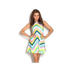 Sukienki hiszpanki: Sukienka rozkloszowana Colorful Pastels