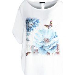 T-shirty damskie: Biały T-shirt Lilac