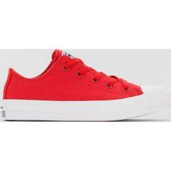 Trampki CTAS II Kids. Czerwone buty sportowe chłopięce Converse, z materiału. Za 176,36 zł.