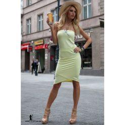 Sukienka Cytrynowa 852. Białe sukienki marki Fasardi, l. Za 34,90 zł.