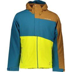 """Kurtka narciarska """"Hurl Down II"""" w kolorze jasnobrązowo-niebiesko-żółtym. Brązowe kurtki męskie marki Dare 2b, m. W wyprzedaży za 343,95 zł."""