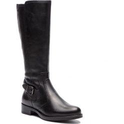 Oficerki TAMARIS - 1-1-25544-21 Black 001. Czarne buty zimowe damskie Tamaris, z materiału, na obcasie. Za 439,90 zł.