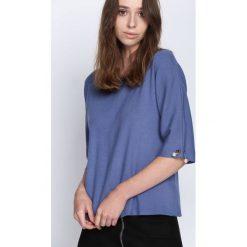 Swetry klasyczne damskie: Niebieski Sweter Running Circles