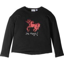 Odzież dziecięca: Bluza z cekinami bonprix czarny
