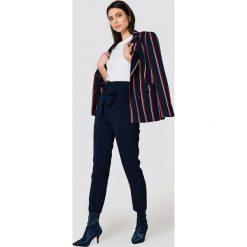 Spodnie z wysokim stanem: Trendyol Spodnie garniturowe z wysokim stanem – Navy